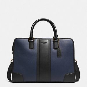 COACH BOMBE LEATHER DIRECTORS BRIEFCASE